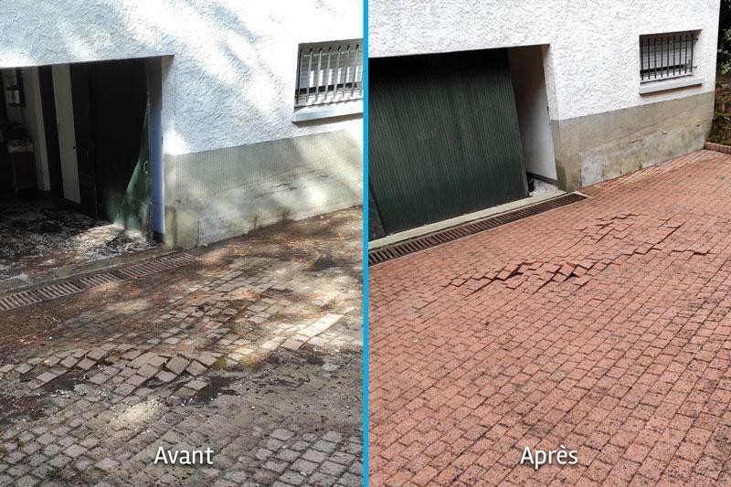 Nettoyage haute pression de terrasse